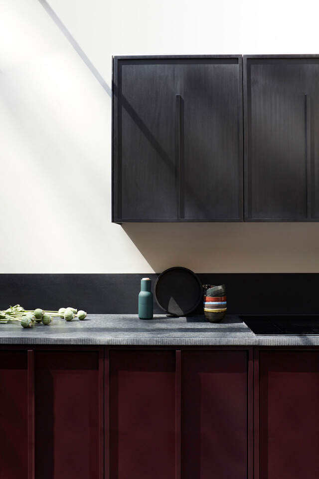 Black Richlite Cabinet Doors by MannMade London