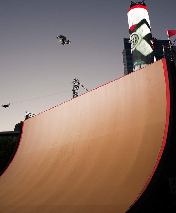 X Games Ramp Surface Material